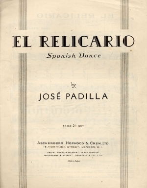 "Sheet music cover for ""El Relicario"""