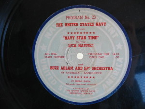 disc label for Navy Star Time 23
