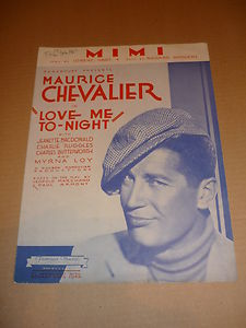 """vintage sheet music cover for """"Mimi"""""""