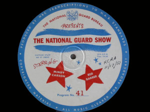 disc label for National Guard Show 41
