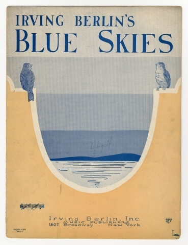 "vintage sheet music for ""Irving Berlin's Blue Skies"""