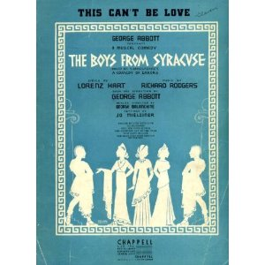 "Vintage sheet music, ""This Can't Be Love"" from ""The Boys from Syracuse"""