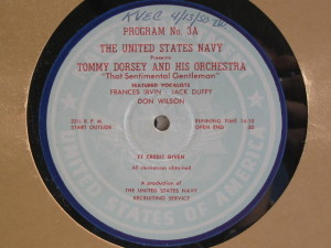 "photograph of the ""Your Navy Show"" label"