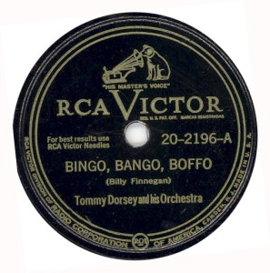 "[vintage record label of ""Bingo Bango Boffo""]"