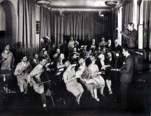 Photo of radio orchestra, circa 1920's