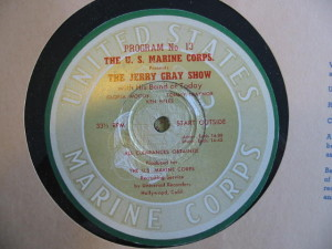 "disc label for ""The Jerry Gray Show"" #13"