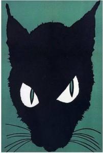 graphic of black cat head