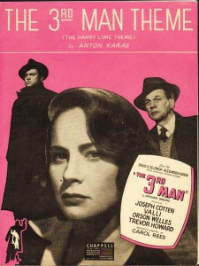 "Vintage sheet music cover of ""The Third Man Theme"""