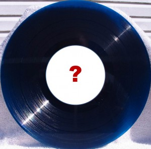 Transcription disc with question mark on label