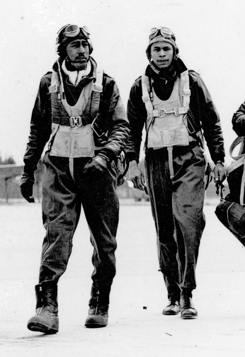 Vintage Photo Of 2 Air Force Pilots