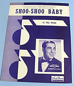 "vintage sheet music cover of ""Shoo-Shoo Baby"""